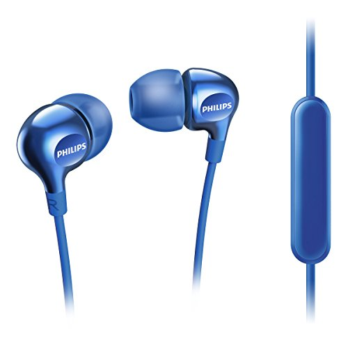 Philips Vibes - Auriculares in-Ear (micrófono para Cambiar Entre la música y Las Llamadas telefónicas, 3 Auriculares de Goma Intercambiables), Color Azul