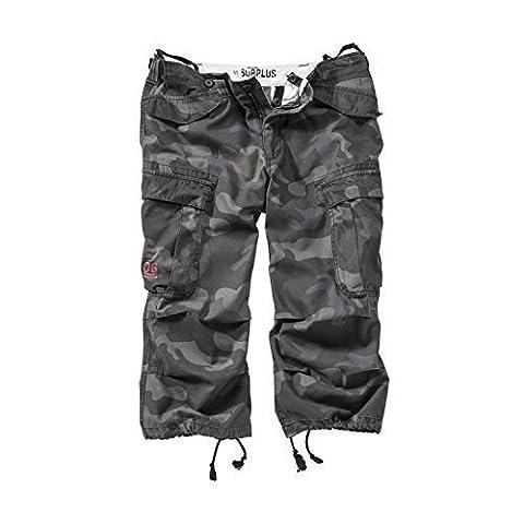 Surplus Homme shorts ENGINEER VINTAGE 3/4 , Size M, Color black camo
