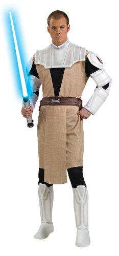 Rubie's Obi Wan Kenobi Kostüm Clone Wars Deluxe (Deluxe Obi Wan Kenobi Kostüm Für Erwachsene)