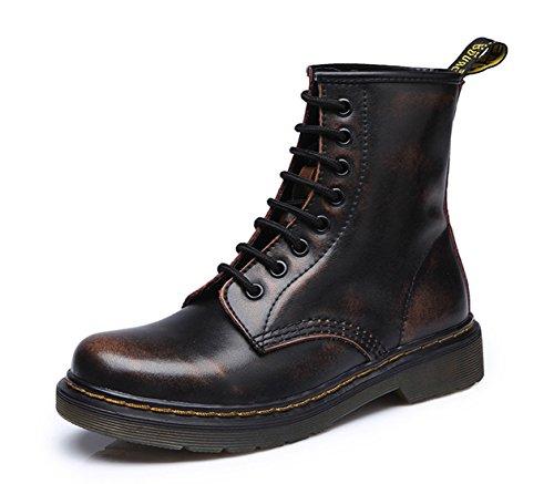 Honeystore Unisex-Erwachsene Bootsschuhe Derby Schnürhalbschuhe Kurzschaft Stiefel Winter Boots für Herren Damen Braun 42CN gb174