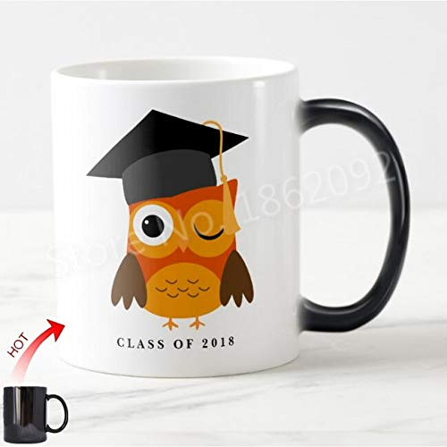 HUYHUY Eulen-Personalisierte Absolvent-Geschenke Abschluss-Klasse Der Kundenspezifischen Jahr-Magischen Schalen-Farbänderung Wärmeempfindlichen Becher Kreative Geschenke