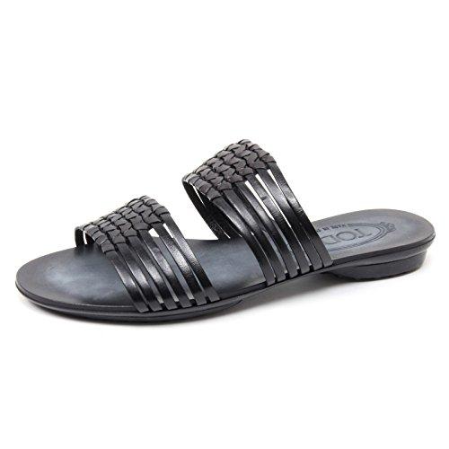 B4518 sandalo donna TOD'S scarpa ciabatta nera sandal shoe woman Nero