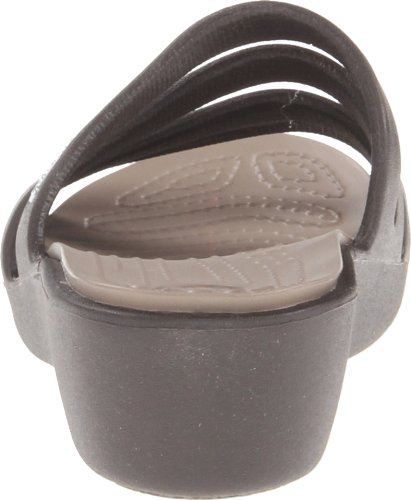 Crocs Rhonda, Sandales compensées - Femme Marron (Espresso/Mushroom)