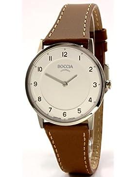 Boccia Damen-Armbanduhr Analog Quarz Leder 3254-01