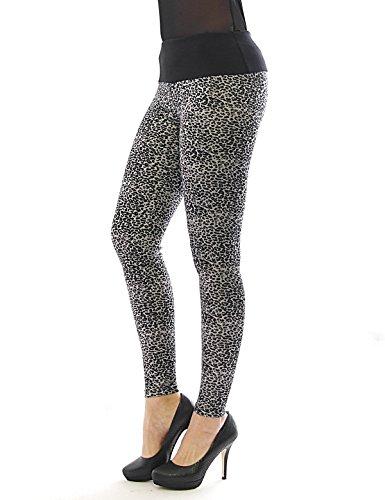 Y-shop -  Leggings  - relaxed - Donna Leopard-grau-5