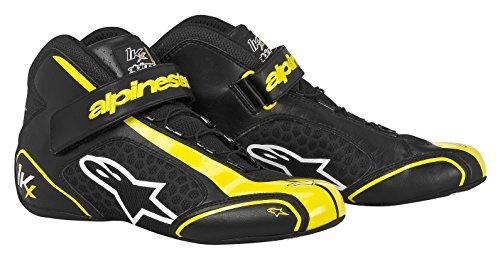 Alpinestars 2712113-15 Zapatos de Kart, Color Negro/Amarillo, Talla 3.5