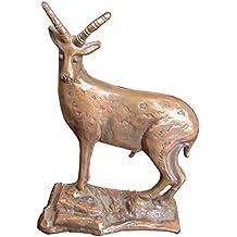 escultura estatua figura Capricornio cabra montesa 22 cm bronce noble patina marron