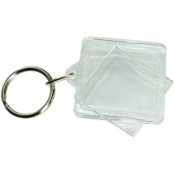 Porte cl fabriquer soi m me porte clef photo plastique transparent carr 3x3cm - Porte cle a fabriquer ...
