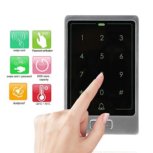 Tür Sicherheit Access Control, WG26/34 125 kHz Metall Wasserdicht Touch Keypad Door Security Entry System, 8000 Benutzer DC12V 2A Tür Zutrittskontrollsystem(Universal) (Tür-entry-system)