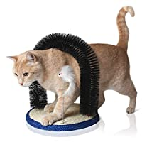 Bella & Balu Cat Arch incl. Catnip and Cat Toy - Self Groomer and Massager for cats with integrated Scratch Layer