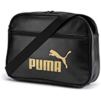 PUMA WMN Core Up Reporter Bandolera, Mujeres, Black-Gold, OSFA