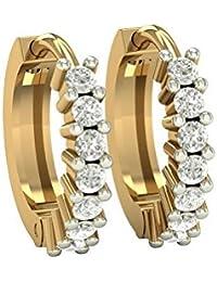 PeenZone 18k Gold Plated Clip On Earrings For Women & Girls