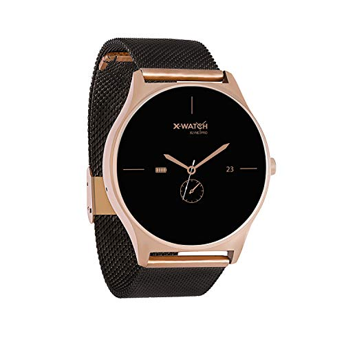 X-WATCH 54030  JOLI XW PRO - Smartwatch Damen iOS / iPhone - Fitnessuhr - Android mit WhatsApp Info Samtschwarz