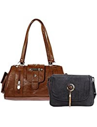 Bagizaa Multicolor Medium Size Casual Shoulder Bag Pack Of 2(HCMB9065)