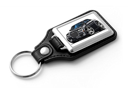 wickedartz-cartoon-car-chrysler-300c-black-classic-style-key-ring