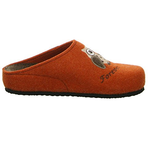 TOFEE  Hausschuh Forever Friends, Chaussons Mules femme Rouge - Rot (Orange)