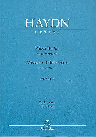 Joseph Haydn: Messe B-dur (Theresienmesse) Hob. XXII:12 für Soli, Chor und Orchester -- Klavierauszug mit Bleistift nach dem Urtext der Haydn Gesamtausgabe (Noten/sheet music)