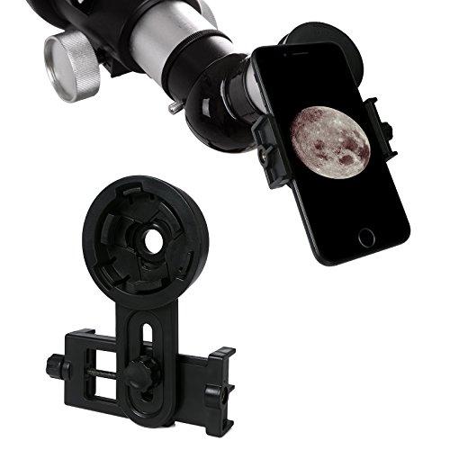 Universal Handy Teleskop Adapter Halterung, FLAGPOWER Spektiv Handy Adapter für iphone, Samsung, Zielfernrohr, Kamera, Digiskopie Fernglas, Teleskop, Mikroskop und Monokular
