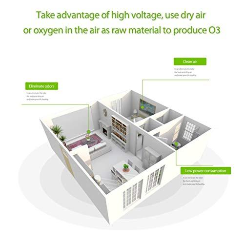Moliies 220V 7g + h Mini generador de ozono Fuente de alimentación Placa de cerámica Dividida Kit...