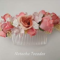 Corona trasera de comunión blanco y rosa