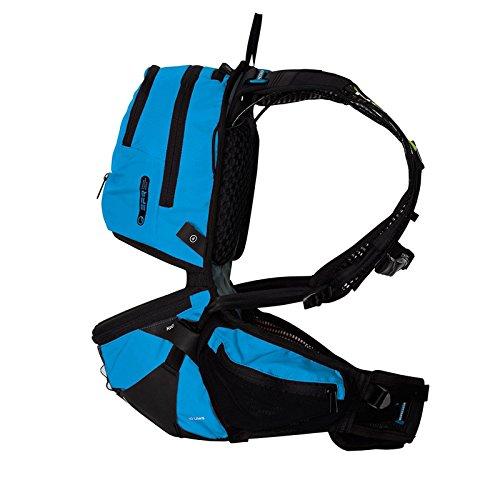 Ergon BE3 Daypack Rucksack Outdoor Enduro 10L Fahrrad Hüftgurt Trinkblase Regenhülle Tasche, 45000800 Blau