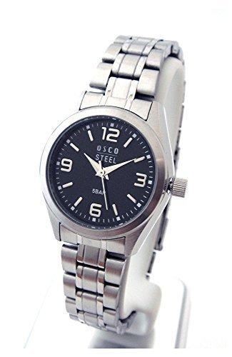OSCO Workline Damen Armbanduhr Edelstahl schwarz 06187012