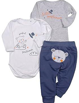 Be Mammy Jungen Set 2er Pack Body und Hose Bear 3101