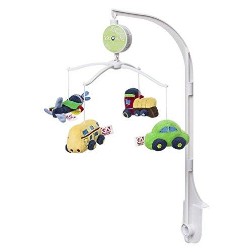 JYSPORT Musikmobile Baby Boy & Girl Krippe mit hängenden Rotierende Plüsch-Puppen Sleeping Music Box Melodien pädagogisches Spielzeug (traffic)