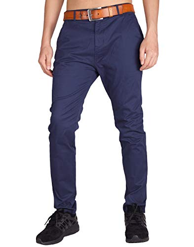 Italy morn chino uomo skinny stretch casual pantaloni regular fit xl marina militare