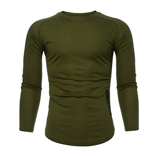 Herren Langarmshirt Slim Fit | Sannysis Männer Longsleeve Jogger Gym Sport T Shirt Fitness Muscle Tee Langarm Tops Sweatshirt Pullover