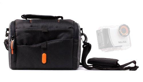 sacoche-de-transport-duragadget-noir-orange-bandoulire-pour-camscope-camra-embarque-intova-sport-pro