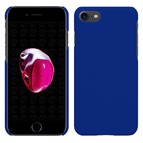 Apple iPhone 7 Plus - Rubber Schutzhülle Gummiert Hybrid Hard Case Schutz Cover Etui Hülle Tasche in Pink - RT-Trading Blau