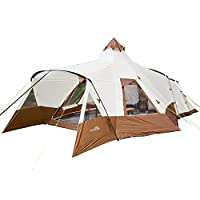 Skandika Navaho Teepee Desert Pyramid Indiana Family Group Tent, Sewn-In-Groundsheet, 2 Sleeping Pods, 5000 mm Water Column, 5 Person 2