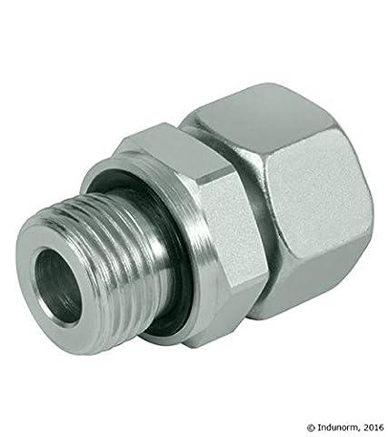 Hydraulik Verschraubung Gerader Einschraubstutzen zöllig mit Dichtkegel 15L-G1/2