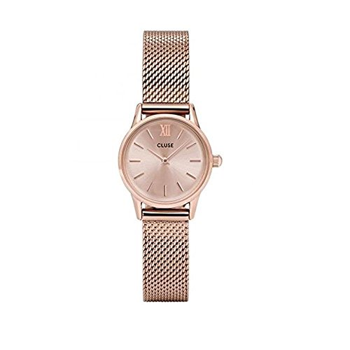 Cluse Unisex Erwachsene Digital Quarz Uhr mit Edelstahl Armband CL50002