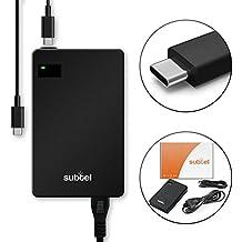 subtel® Fuente de alimentación (5V / 9V / 12V / 15V / 18V / 20V,60W) para HP Elite x2 1012 G1 / x2 1012 G2 / Folio G1 / x2 210 G2 (2.5m) cable de corriente Cargador ordenador portatil