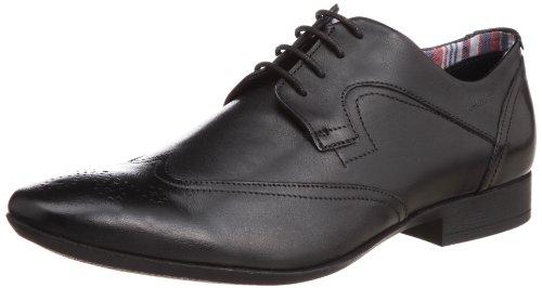 Glint Straße Mens Formale Lace Up Schuhe Schwarz
