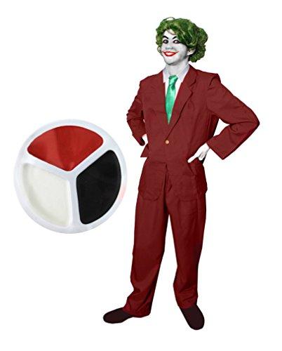 ILOVEFANCYDRESS Joker-GANOVEN-SCHURKEN KOSTÜME VERKLEIDUNG Fasching Karneval Comic Figur Party+ Make UP+ GRÜNER PERÜCKE = XLarge (Storm Marvel Comics Kostüm)