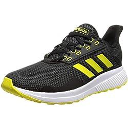 adidas Duramo 9, Zapatillas de Entrenamiento para Hombre, Negro (Core Black/Shock Yellow/Footwear White 0), 43 1/3 EU