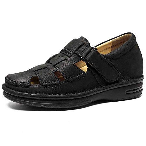 Chamaripa sandali sportivi estivi in pelle scarpe da uomo all'aperto chiuse traspiranti pescatore sandalo beach fino a 7 cm - h71t73v011d
