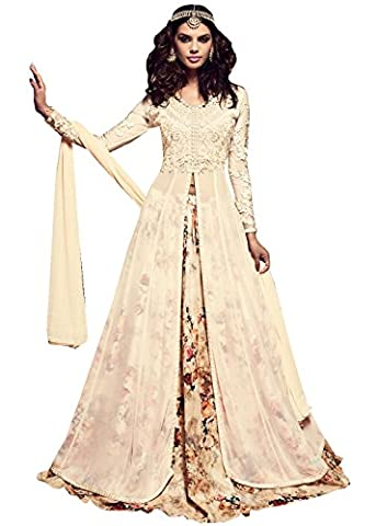 Ready made Indian New Collection Anarkali Suit For Women Party Wear UD-22001 VF (M-40, Off White)