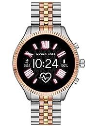 Michael Kors Gen 5 Access Lexington 2 Stainless Steel Touchscreen Women's Smartwatch, Tri-Tone Rose/Gold/silver-MKT5080