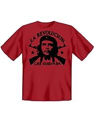 Revolution T-Shirt Che Guevara - La Revolucion in dunkelrot