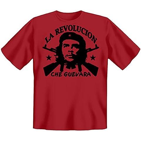 Revolution T-Shirt Che Guevara Revolucion - La de colour rojo #NV Talla:xx-large