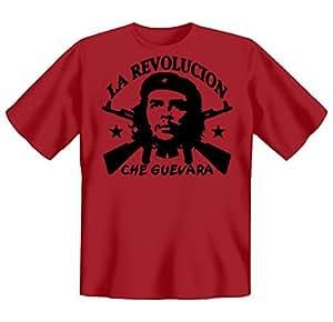 Revolution T-Shirt Che Guevara - La Revolucion (Größe: S) in dunkelrot
