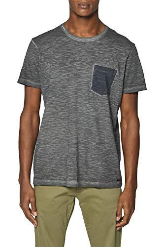 ESPRIT Herren 039EE2K027 T-Shirt, Schwarz (Black 001), X-Large (Herstellergröße: XL) (Wasser-logo-t-shirt)