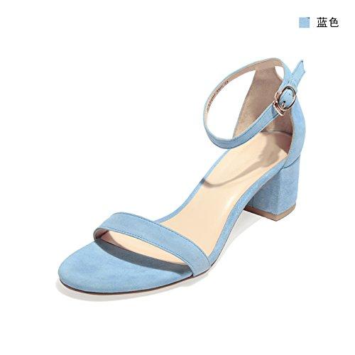 Del Shoeshaoge Singolo Colore Sandali Con Tallone Solido ZqWnTd64xR