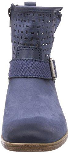 Tamaris 25330, Bottes Motardes Femme Bleu - Blue - Blau (Navy 805)