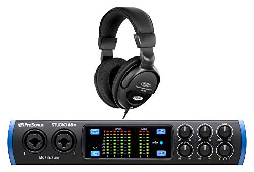 PreSonus Studio 68c USB-C Audio Interface Set (Mobiles 6x6 USB-C Audio Interface mit DAW-Software Bundle & Komfort-Kopfhörer) (Studio Presonus Mic)