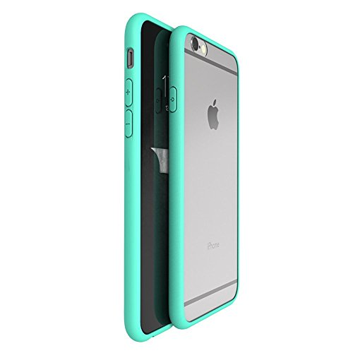 OnPrim Superior Ultra Thin Slim Fit Clear Frame Hybrid Flexbile TPU Case With Tempered Glass Film For iPhone 6 6s 4.7 Inth Green